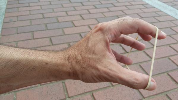 Extensiones de dedos con elástico