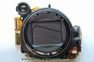reparación cámaras digitales canon bloque de lente