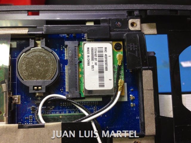 reparar portátil tarjeta wifi