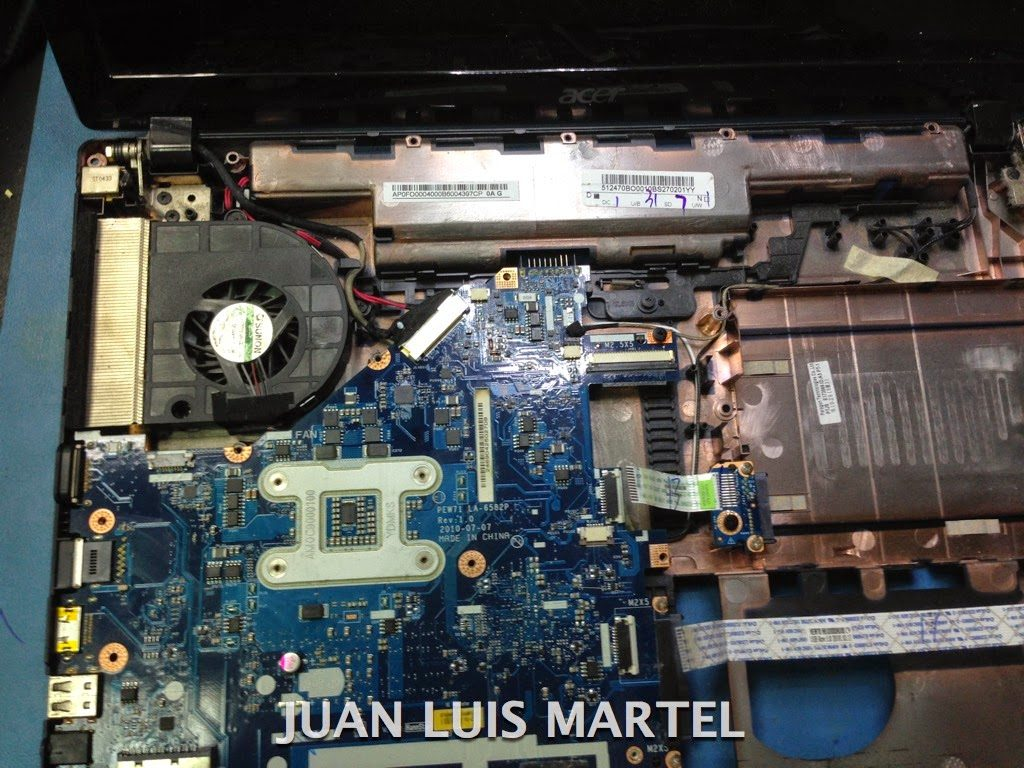 mainpcb portátil ACER reparado en servicio técnico Las Palmas