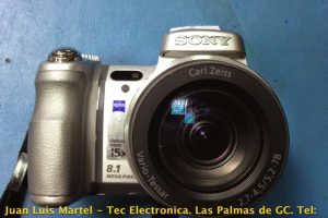Reparación de camara de fotos digital de la marca SONY DSC-H7