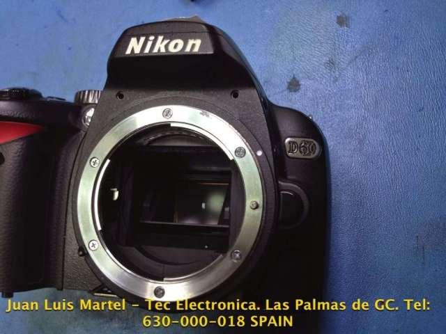 Fotos de los espejos de una cámara de fotos Nikon