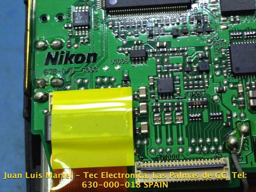 Circuito impreso de cámara de fotográfica Nikon D 60 conexión protegida