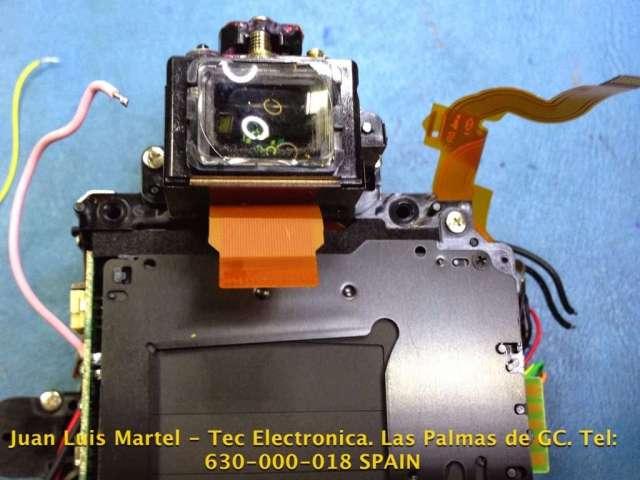 Reparación de las cortinillas en cámara fotográfica Nikon D 60