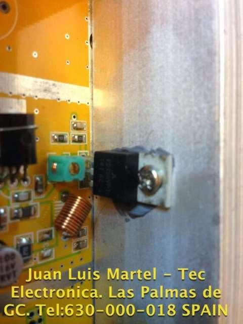 Transistor MOSFET de emisora FM comercial averiada