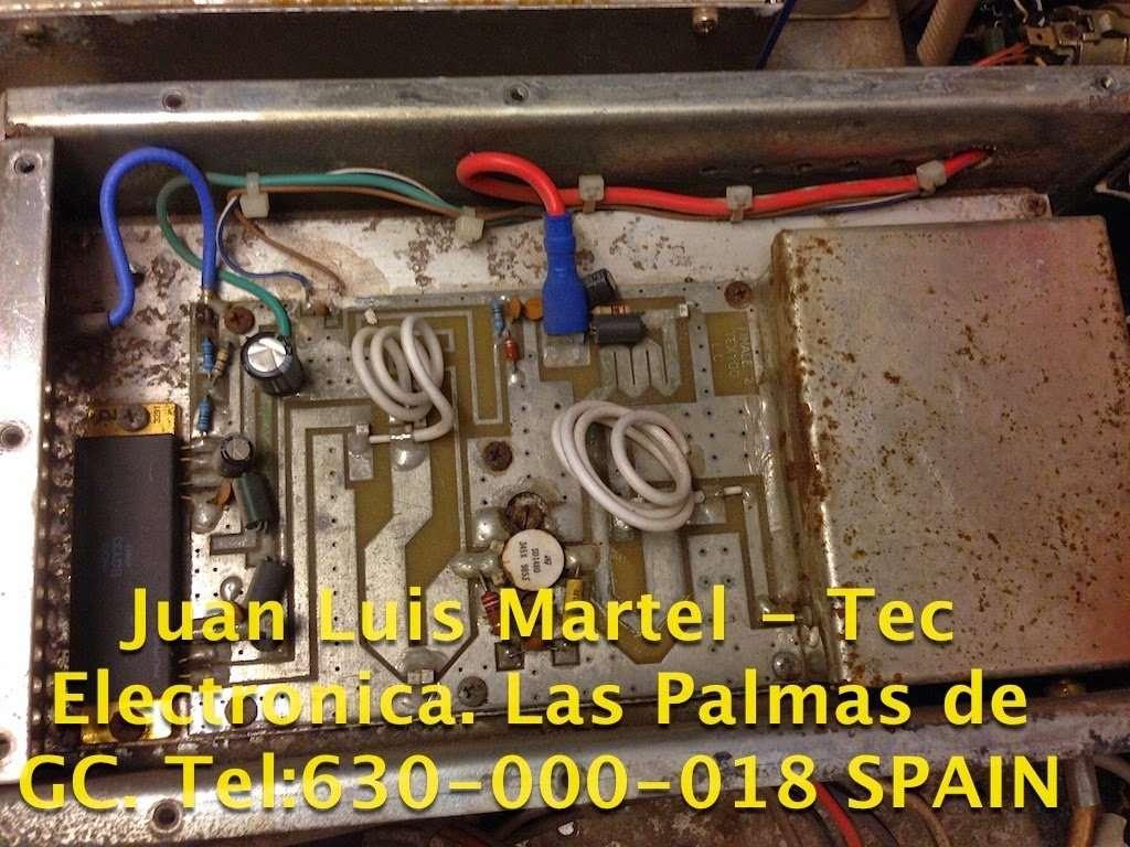 Reparación de paso final amplificador de RF de emisora de FM circuito interno