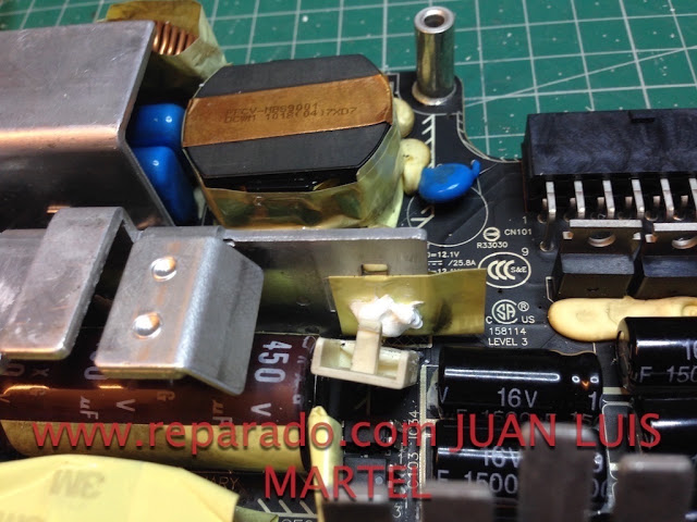 sensor termico en fuente de alimentación de iMac