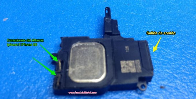 Repuesto de speaker o altavoz de iPhone Servicio técnico