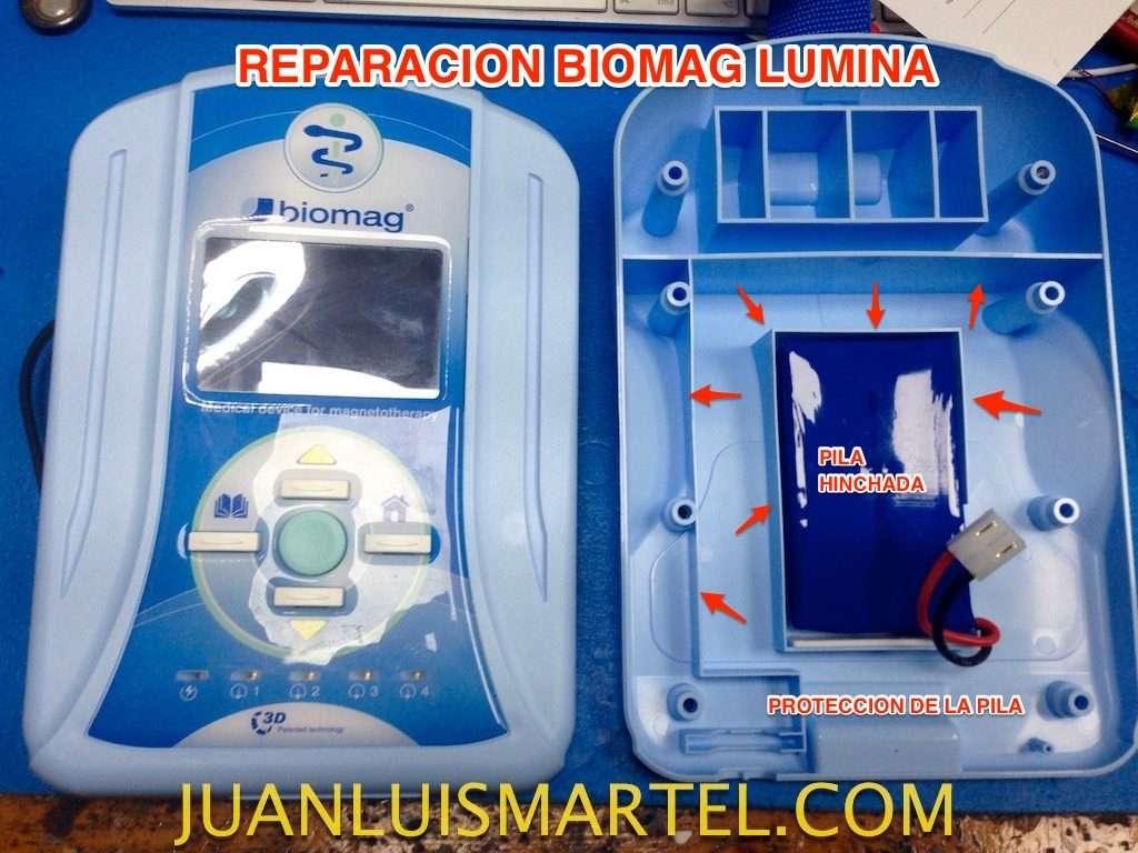 reparación de biomag lumina protecciones de la pila interna