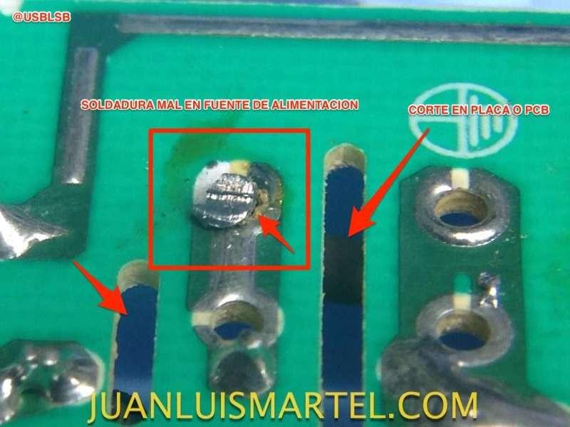 reparación de biomag lumina soldadura mal estado