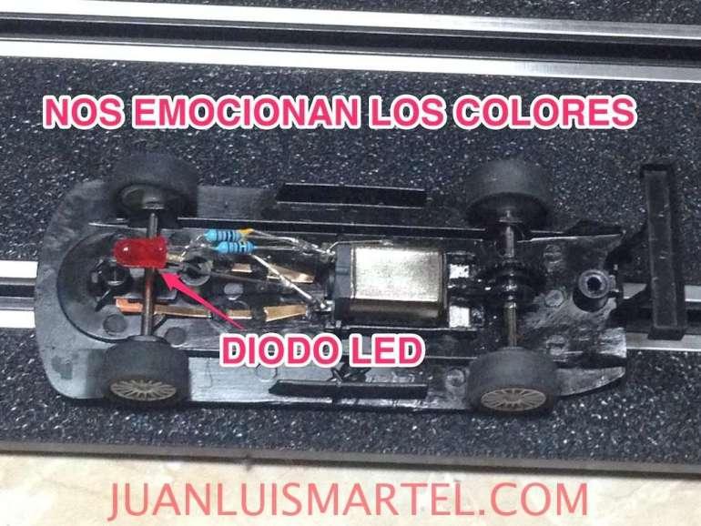 modificacion de scalextric coche con LED