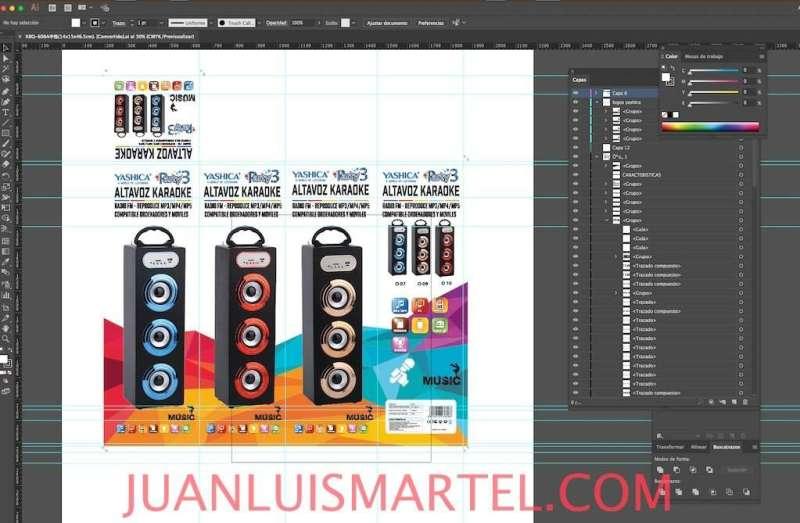 diseño de caja OEM speaker cuadrado karaoke mp3 Juan Luis Martel