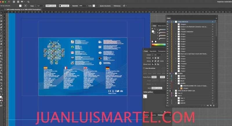 diseño de caja OEM traduccion español tablet chino Juan Luis Martel