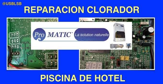 Servicio tecnico de hoteles, reparación Clorador Promatic