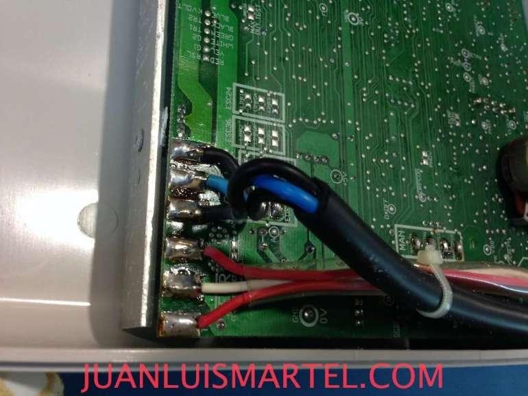 Esquema de conexion de los cables del Clorador Salino Promatic de Monarch