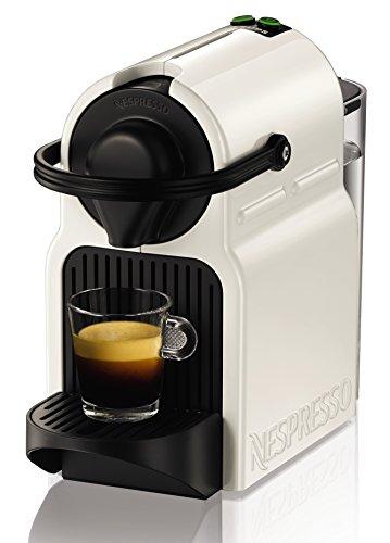 Nespresso Krups Inissia XN 1001 - cafetera de cápsulas, 19 bares, compacta, apagado automático, color white