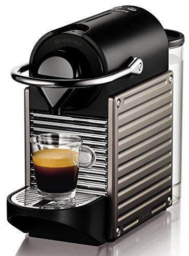 Nespresso Krups Pixie XN 3005 - cafetera de cápsulas, 19 bares, apagado automático, ergonómica, inteligente, color titan