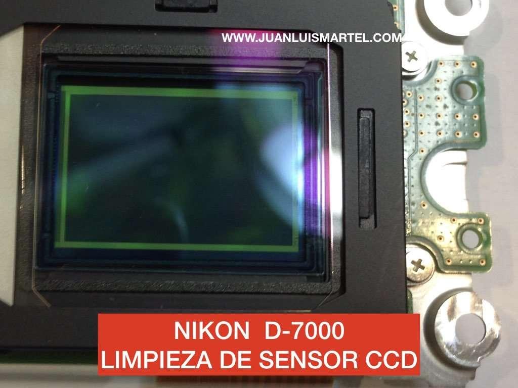 Limpiando el sensor de una Nikon D7000