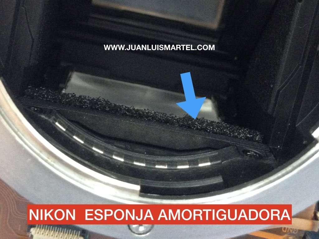 Problemas con la esponja amortiguadora del espejo de una camara de fotos digital