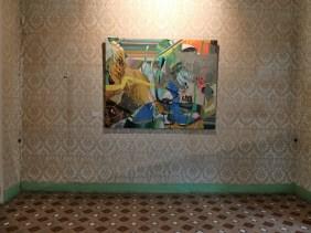 Pintura de Juanma Pérez en el estudio de Boris Strzelcyk. jpg