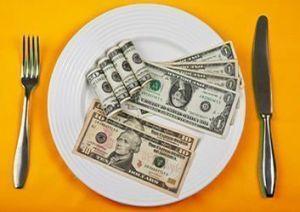 Plato de dinero