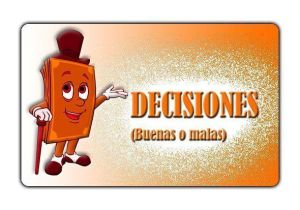 Trasera carta Decisiones