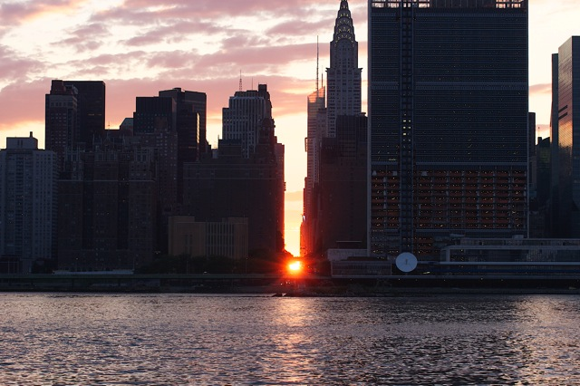 Manhattanhenge from Long Island City