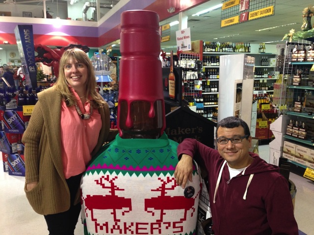 Makers Mark Christmas Sweater