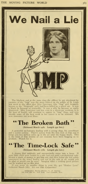 The IMP Girl stars in The Broken Oath or is it The Broken Bath?
