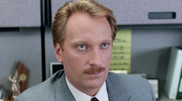 Jeffrey Jones, playing Edward R. Rooney, in Ferris Bueller's Day Off.