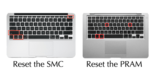 Key sequences: Resetting the SMC and Zapping the PRAM