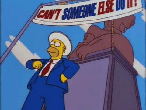 Homer Simpson in Trash of the Titans