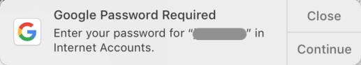 GooglePasswordRequired