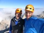 Con mi guía y amigo Hugo, de Muntania