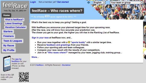 Página de inicio de feelRace.com