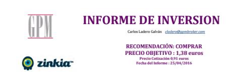 informe inversion zinkia - gpm abril 2016