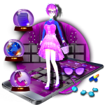 Download  3D Cute Sex Doll Theme 1.1.5 Apk