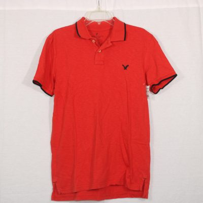 American Eagle Slim Fit Orange Polo Shirt | M
