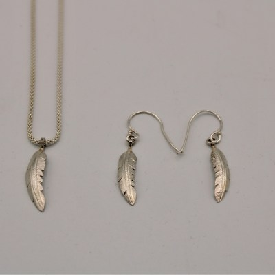 Sterling Silver Feather Set