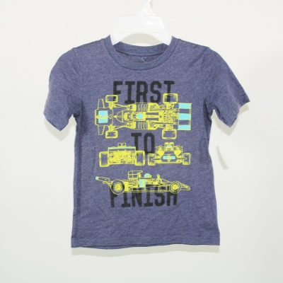 Jumping Beans First To Finish Blue T-Shirt | Size 6