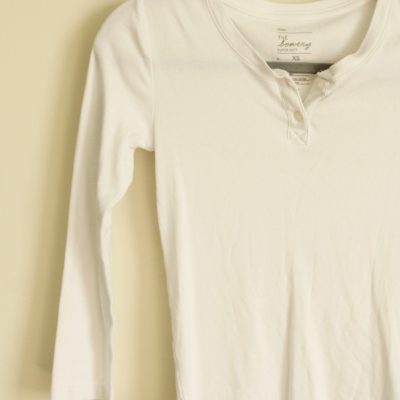 Gap The Bowery Super Soft White Shirt | Size XS