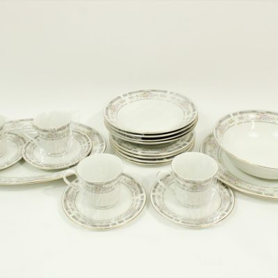 Manchester Porcelain China 22K Band Dishes | Set Of 19