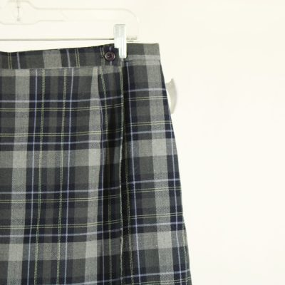 Requirements Plaid Gray Skirt | Size 16