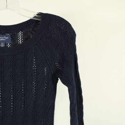 American Eagle Outfitters Blue Knit Top | XS