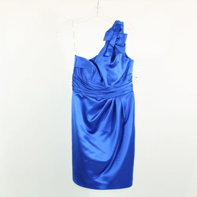 David's Bridal Cobalt Blue Formal Prom Dress | Size 4