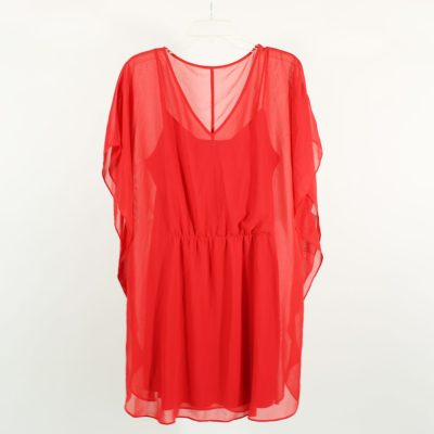 Express Red Chiffon Dress | L