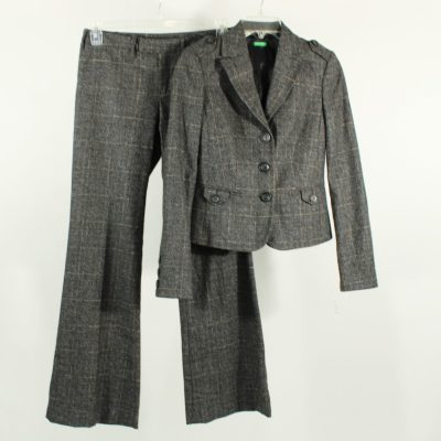 Benetton Tweed Wood Suit | Size M