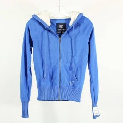 American Eagle Blue Fleece Hoodie | XS