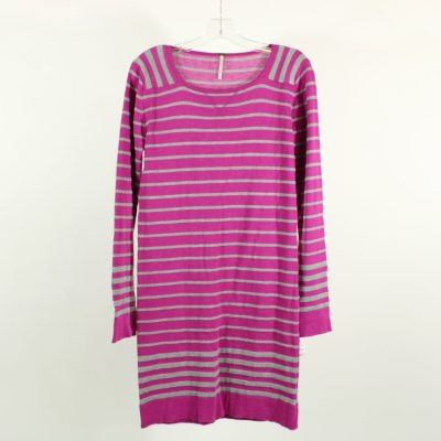 POOF Pink & Gray Knit Dress | L