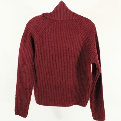 Garage Maroon Red Knit Turtleneck Sweater | XS